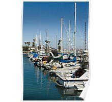 Harbor Sailboats Poster