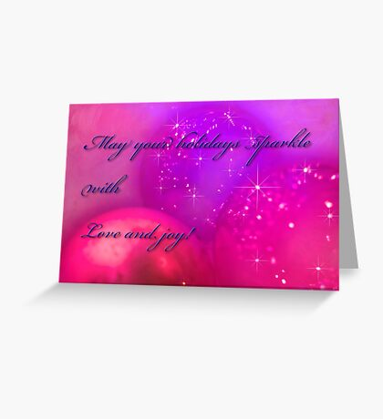 Holiday baubles Greeting Card