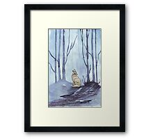 From silvery woods there comes a call Framed Print