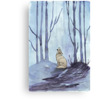 From silvery woods there comes a call Canvas Print