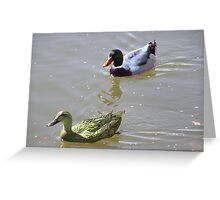 2 Quackers Greeting Card