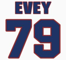 National football player Dick Evey jersey 79 by imsport