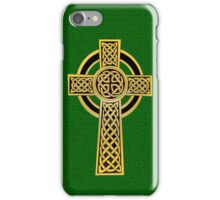 Celtic Cross, gold and green iPhone Case/Skin