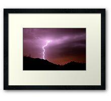 Desert Bolt Framed Print