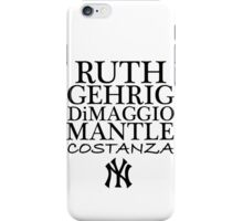 Costanza - Yankees iPhone Case/Skin