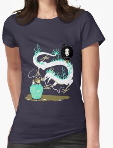 The white dragon Womens Fitted T-Shirt