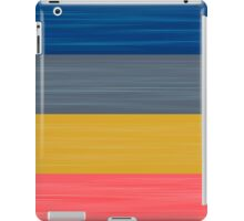 Brush Stroke Stripes: Blue, Grey, Gold, and Pink iPad Case/Skin