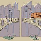 Bridge and City Bus by jessicagadra