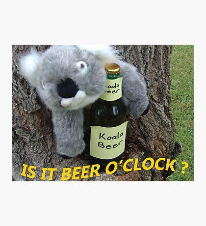 Koala wants Beer O'Clock Photographic Print