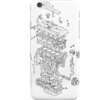 Honda B Series Engine Exploded Blueprint iPhone Case/Skin
