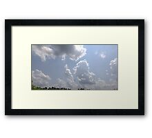 HDR Composite - A Bright Day and Cotton Clouds Framed Print