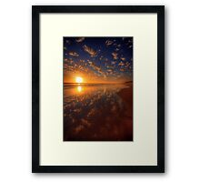 Distant Fishermen Framed Print