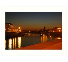 Sunset at Pisa Art Print