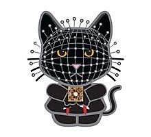 Hellraiser Black Kitty  Photographic Print
