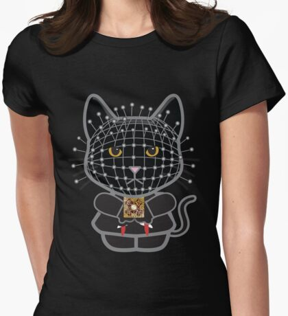 Hellraiser Black Kitty  Womens Fitted T-Shirt