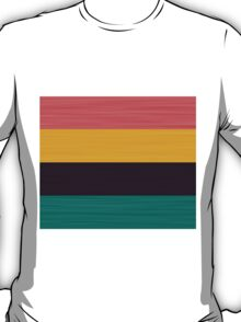 Brush Stroke Stripes: Pink, Gold, Deep Purple, and Turquoise T-Shirt