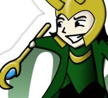 Cute and Mischievous Loki Sticker
