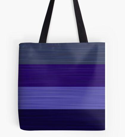 Brush Stroke Stripes: Winter Blues Tote Bag