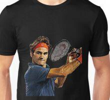 Roger Federer in action Unisex T-Shirt