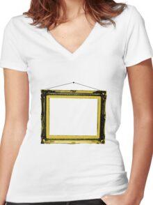 frame Women's Fitted V-Neck T-Shirt