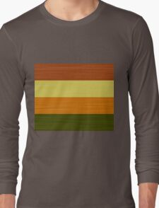 Brush Stroke Stripes: Fall Foliage Long Sleeve T-Shirt