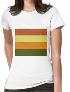Brush Stroke Stripes: Fall Foliage Womens Fitted T-Shirt
