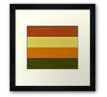 Brush Stroke Stripes: Fall Foliage Framed Print