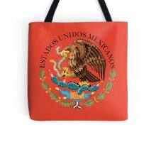 Close up of seal in the national flag of Mexico Tote Bag