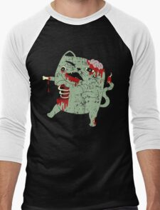 Zombie Cat Men's Baseball ¾ T-Shirt
