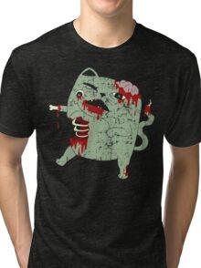Zombie Cat Tri-blend T-Shirt