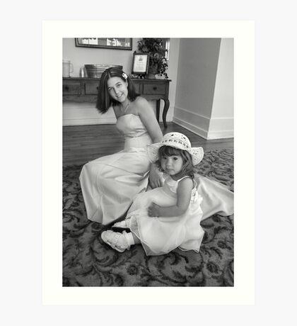 Bridesmaid and Flowergirl Art Print