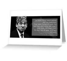 The Office - Prison Mike Greeting Card