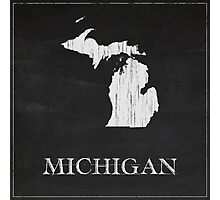 Michigan Map Chalk Drawing Photographic Print