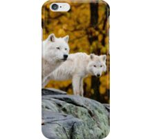 Arctic Wolves On Rocks iPhone Case/Skin