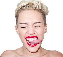 Miley Cyrus with Tongue Out by elisaschmidt