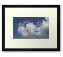 HDR Composite - A Spot of Cloud Fluff Framed Print