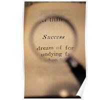 Success Word Art Poster