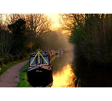 Canal Sunset Photographic Print