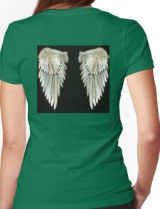 Angel Wings Real watercolor Womens Fitted T-Shirt