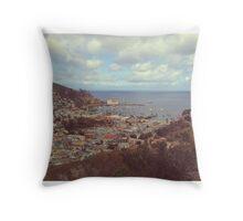 Avalon Bay, Catalina Island Throw Pillow