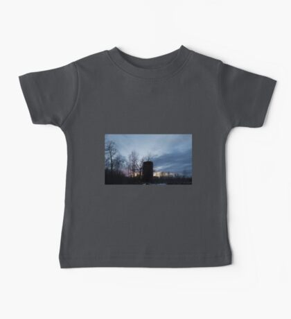 HDR Composite - Backlit Sunset Trees and Abandoned Silo Baby Tee