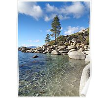Sparkling Turquoise Waters at Lake Tahoe Poster
