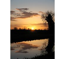 Irish Canal Sunset Photographic Print