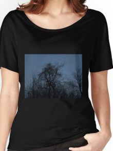 HDR Composite - Backlit Trees and Twilight Women's Relaxed Fit T-Shirt