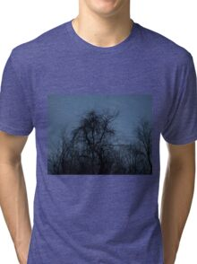 HDR Composite - Backlit Trees and Twilight Tri-blend T-Shirt