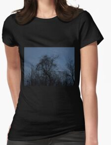 HDR Composite - Backlit Trees and Twilight Womens Fitted T-Shirt