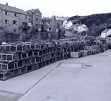 Lobster pots Staithes, North Yorkshire. by richieh755