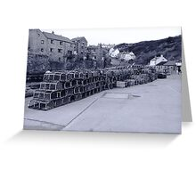 Lobster pots Staithes, North Yorkshire. Greeting Card
