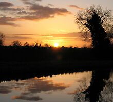 Irish Canal Sunset II by Aishling O'Neill