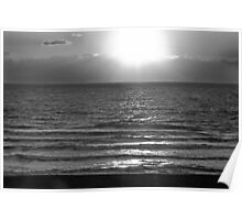 Sunset in Black And White Poster